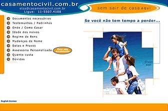 Site CasamentoCivil.com.br no ano 2000