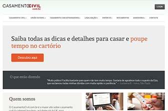Site CasamentoCivil.com.br no ano 2014