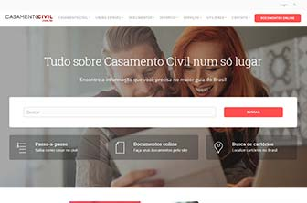Site CasamentoCivil.com.br no ano 2018